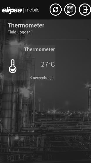 Tela de temperatura