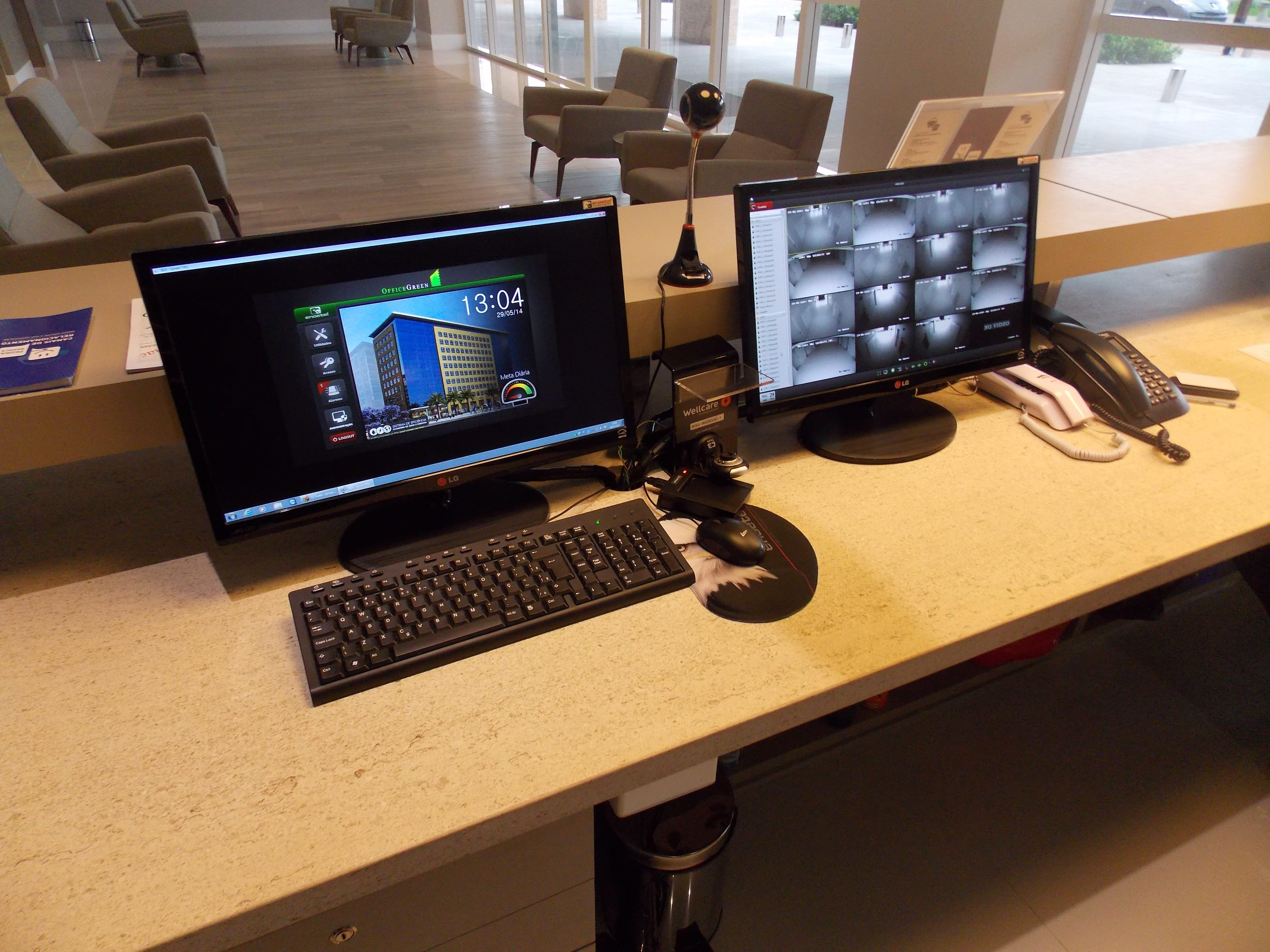 Sistema desenvolvido com o E3 para gerenciamento do Office Green