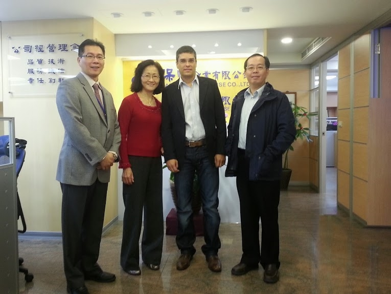 David Liu and Ms. Lin, manager of the SCADA team and the vice-president of Baufarm, near Salvador and Liu at the office of the Taiwanese partner responsible for promoting the event in Taiwan Power Company