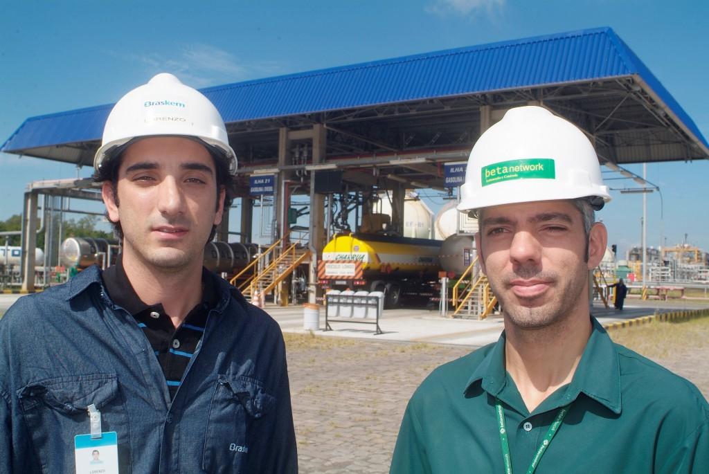 Lorenzo Bongiorni e Gustavo Pchara, os principais responsáveis pela implementação do Elipse E3