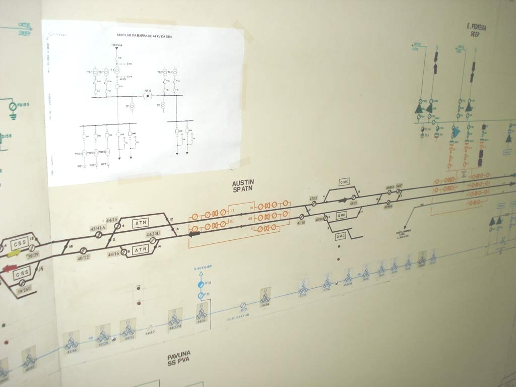Figure 1. Ferromagnetic board used to monitor the railroad's power system in the past