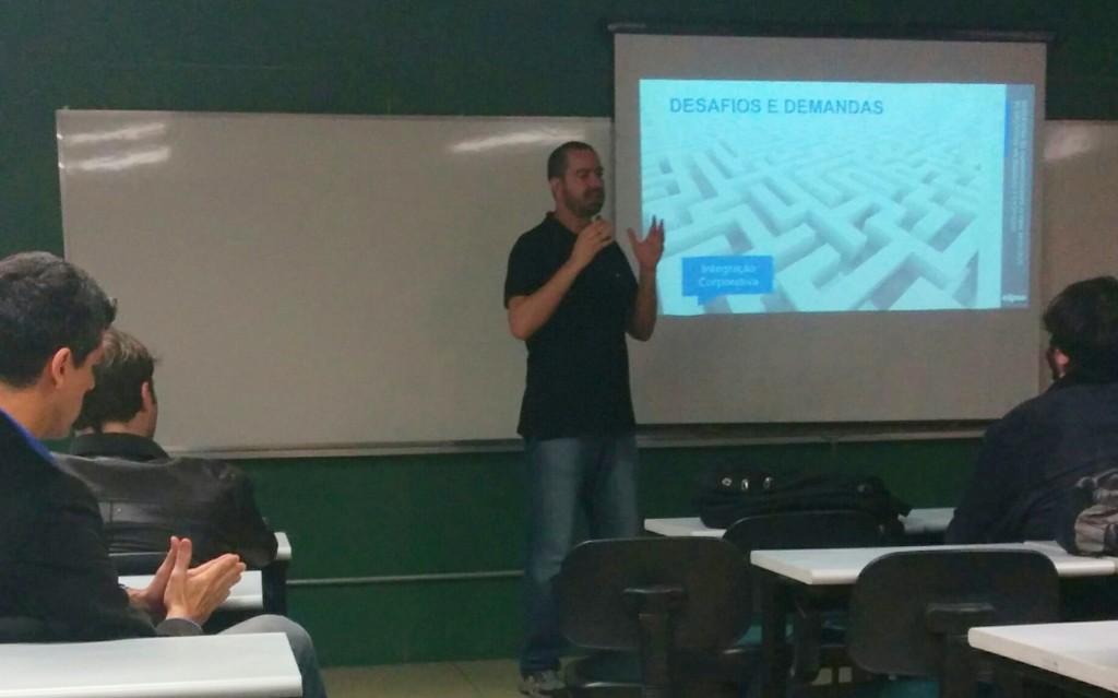 Gustavo Salomão, gerente da Elipse-SP, falando sobre alguns dos desafios e demandas do mercado de automação