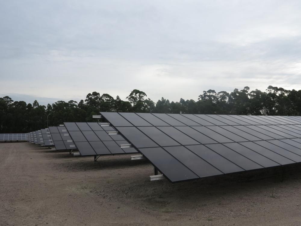 Placas fotovoltaicas da usina