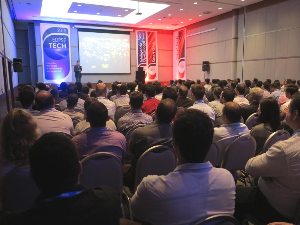A exemplo do que aconteceu em 2014, o Elipse Tech 2015 reuniu um grande público no Centro de Convenções do Hotel Meliá Paulista, em São Paulo