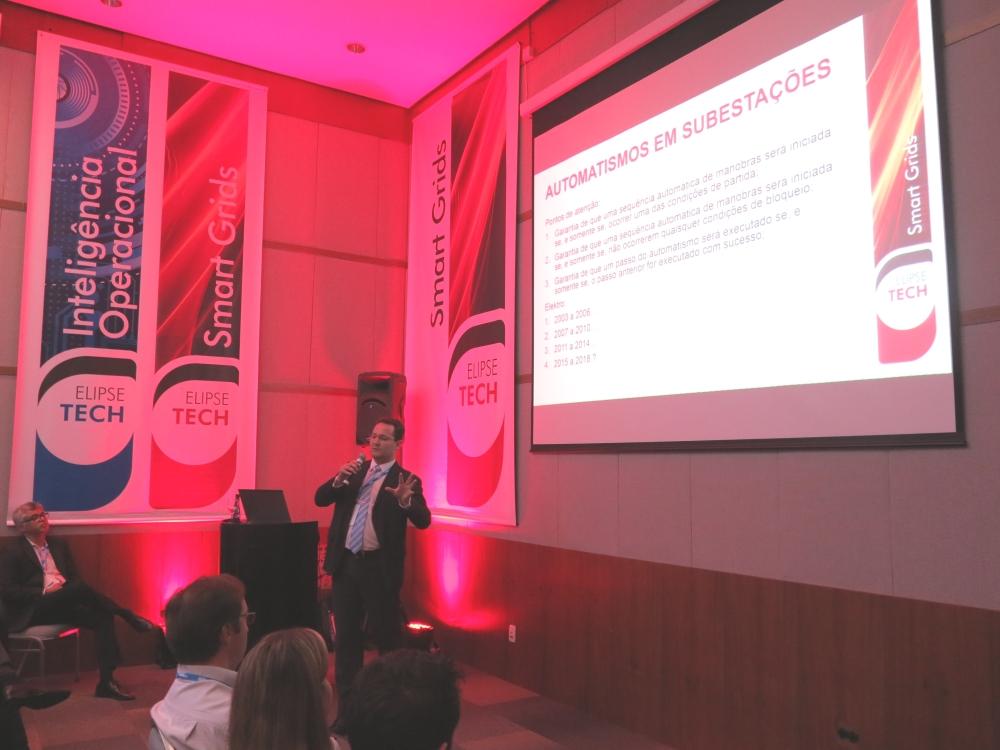 Rafael Augusto destacou a parte ligada à automação de subestações em sua apresentação