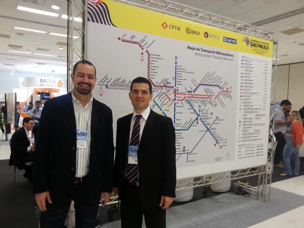 Os palestrantes Gustavo Salomão e Samir Lima, gerente e consultor da Elipse