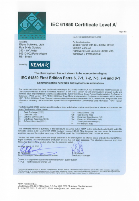 Kema Certify won by Elipse Software