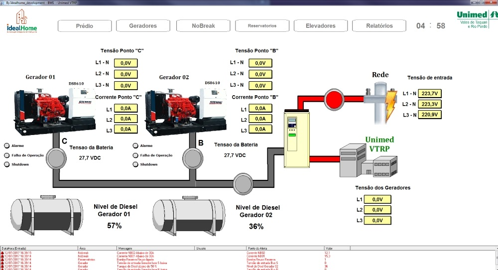 Figure 3. Generators management screen