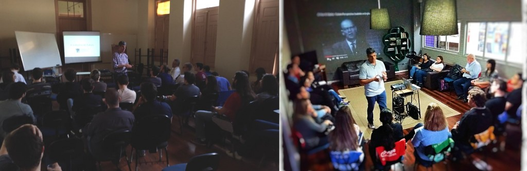 Palestras realizadas na UFRGS e Universidade São Judas Tadeu, em Porto Alegre