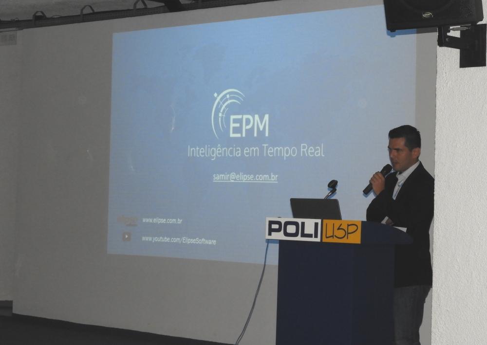 Samir Lima palestrou sobre o EPM e sua integração com o Python